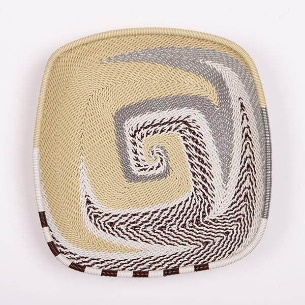 """Flat Square"" basket | Mahatsara"