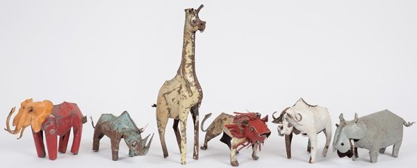 animal en métal recupéré - animal in recycled metal | mahatsara