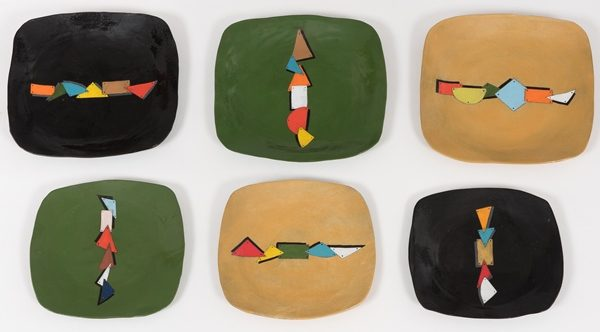 assiette en céramique motifs zoulous - plate in ceramic zulu patterns - isiqhaza | mahatsara