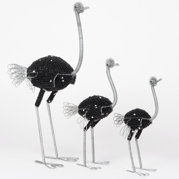 autruche en perles - beaded ostrich | mahatsara