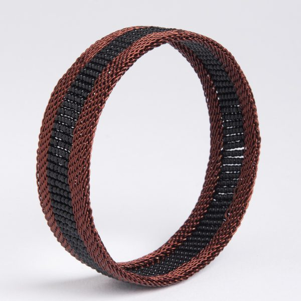 bracelet en fil de cuivre et perles - copper wire and glass beadss bracelet | mahatsara