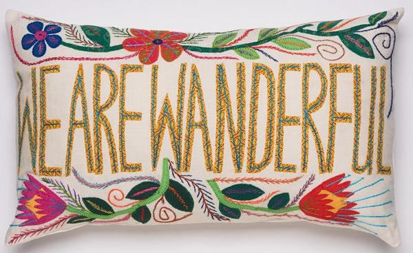 coussin brodé africa embroidered cushion we are wanderful