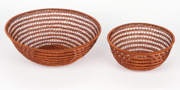 corbeille en fil de cuivre - copper wire basket | mahatsara