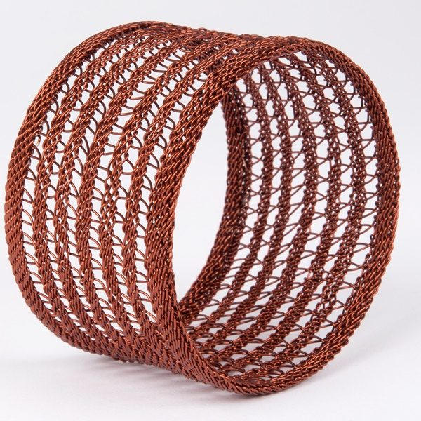 bracelet tressé en fil de cuivre - hand woven copper wire bracelet | mahatsara