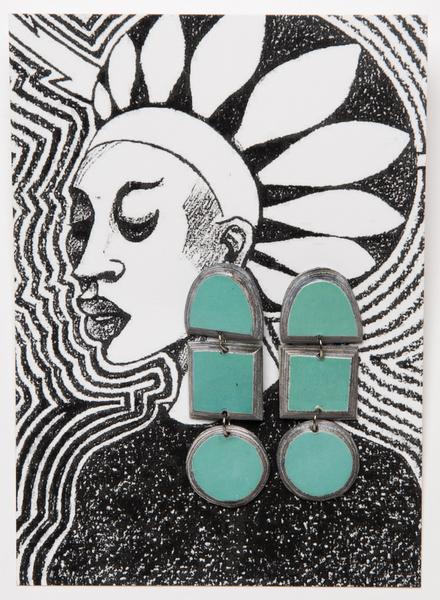 boucles d'oreilles en papier magazine recyclé - recycled magazine paper earrings - swaziland | mahatsara