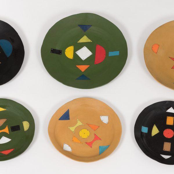 assiette ceramique zoulou - zulu ceramics plates