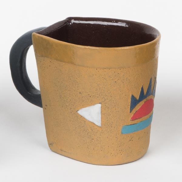 tasse à expresso en céramique motifs zoulous - expresso cup in ceramic with zulu motifs - isiqhaza | mahatsara