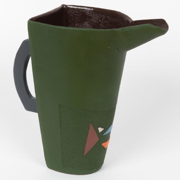 pichet en céramique motifs zoulous - jug in ceramic with zulu motifs - isiqhaza | mahatsara