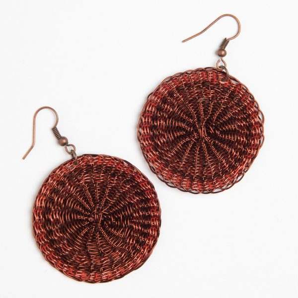 boucles d'oreilles en fil de cuivre - copper wire earrings | mahatsara