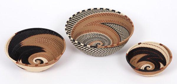 corbeille en fil de téléphone - telephone wire bowl - afrique du sud - south africa | mahatsara