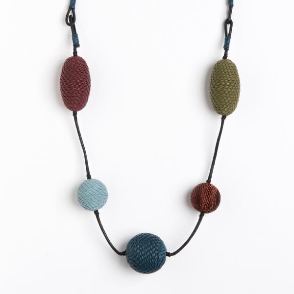 collier cocoon fil de téléphone - necklace cocoon telephone wire | mahatsara