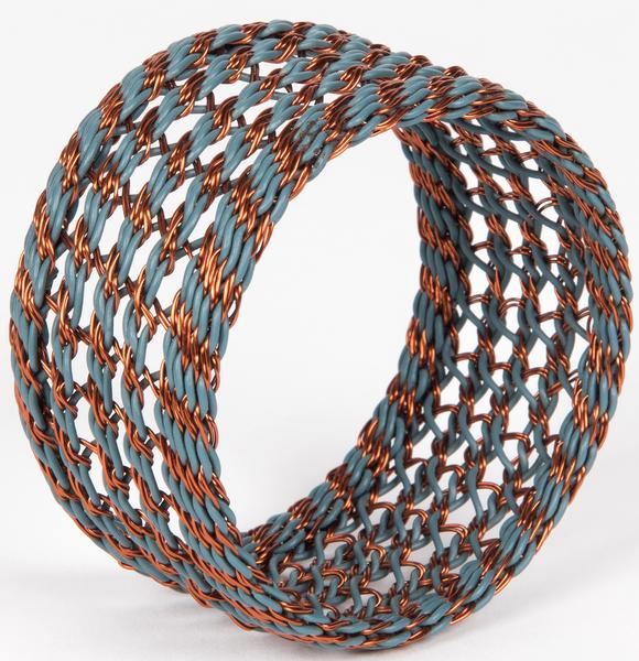 bracelet fil de téléphone fil de cuivre telephone wire copper wire