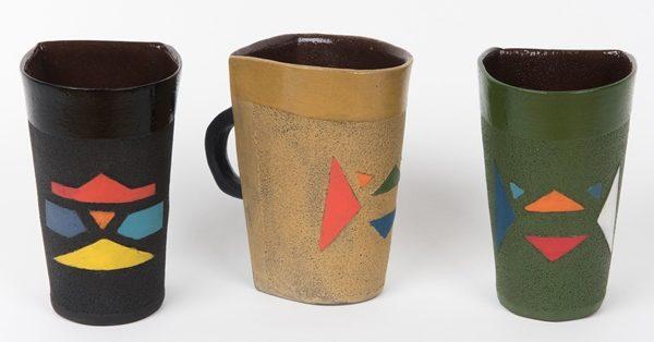 mug en céramique motifs zoulous - mug in ceramic zulu patterns - isiqhaza | mahatsara