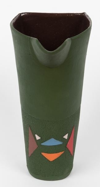 pichet en céramique motifs zoulous - jug in ceramic zulu patterns - isiqhaza | mahatsara